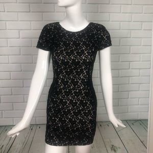 Black dress Nude Libby Lace Sheath